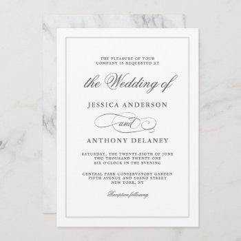 simply elegant affair wedding invitation