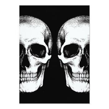 Small Skulls Gothic Wedding Invitation Back View
