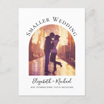 smaller wedding arched photo announcement postcard