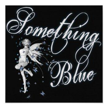 something blue butterfly fairy - original invitation