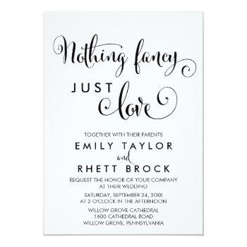 southern calligraphy nothing fancy just love invitation