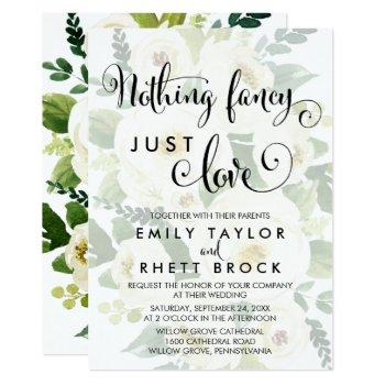 southern   faded floral nothing fancy just love invitation