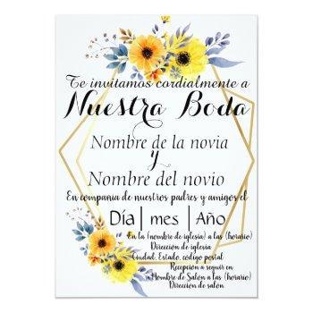 spanish wedding invitation