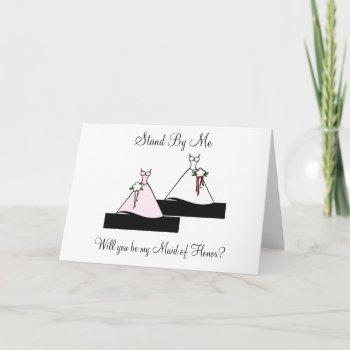 stand by me maid of honor on stairs invitation