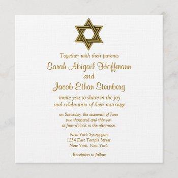 star of david wedding invitations
