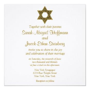 star of david wedding invitations