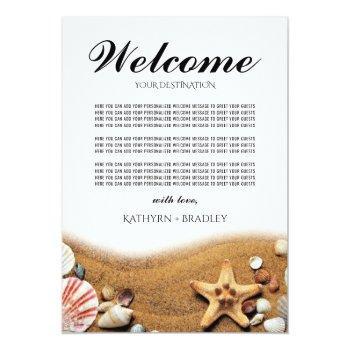 starfish beach destination welcome wedding invitation