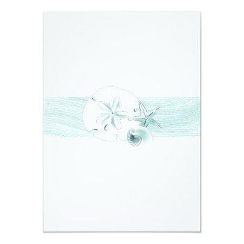 Small Starfish Shells Modern Elegant Beach Wedding Party Invitation Back View