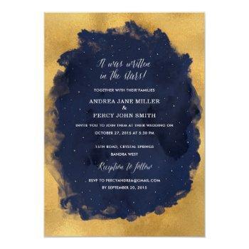 starry night celestial star wedding invitation