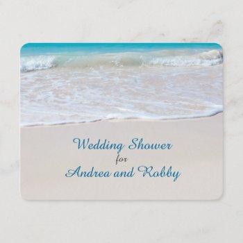 stock the bar beach wedding shower invitation