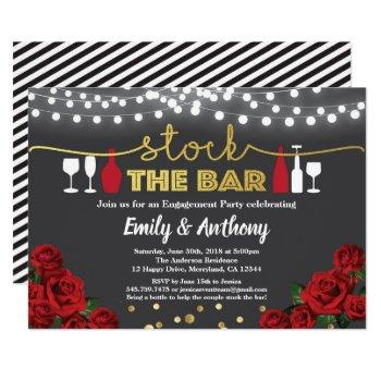 stock the bar invitation red black and gold white