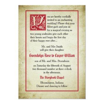 storybook page   fairytale wedding parents give invitation