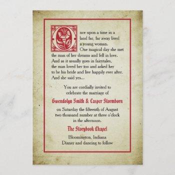 storybook page | vintage fairytale wedding invitation