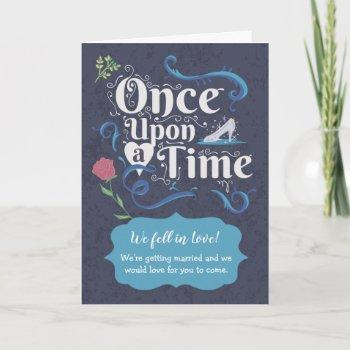 storybook wedding - once upon a time invitation