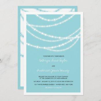 stylish winter sparkles glow wedding 2in1 invite