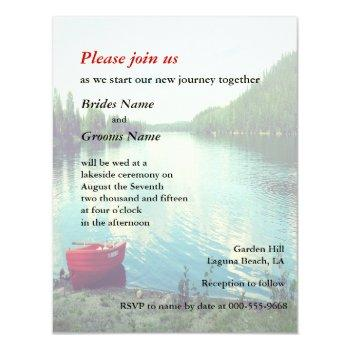 summer lakeside wedding event custom invites