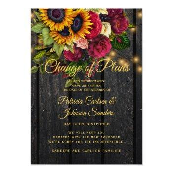 sunflower and roses wedding new date announcement
