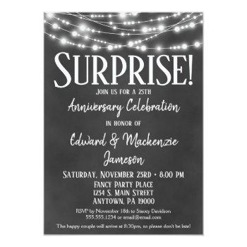 surprise anniversary party invitation chalkboard