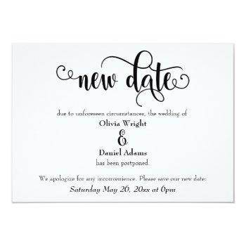 swirling new date postponed wedding announcement