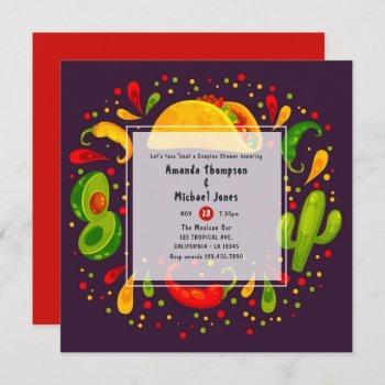 taco themed couples shower invitation