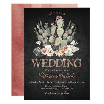 terracota and cactus wedding fiesta invitations