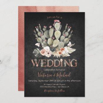 terracota and cactus wedding fiesta invitations