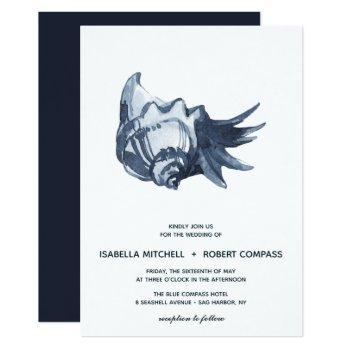 the blue seashell | wedding invitation