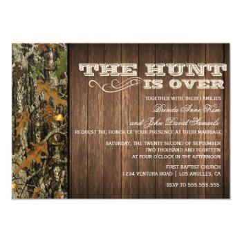 the hunt is over wedding invitation