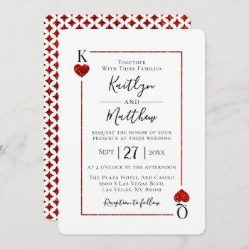 the monogram playing card wedding collection