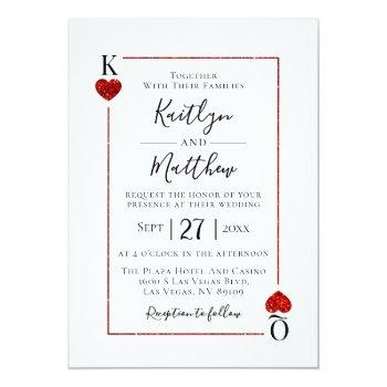 Small The Monogram Playing Card Wedding Collection Front View