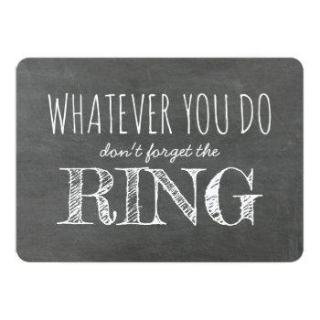 the ring - funny ring bearer proposal invitation