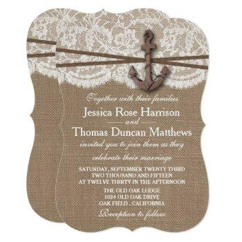 the rustic nautical anchor wedding collection invitation