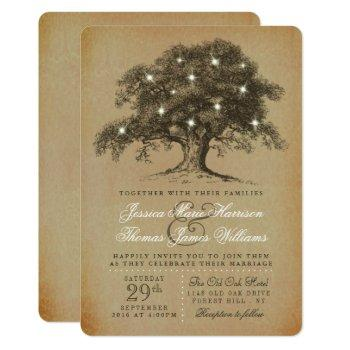 the vintage old oak tree wedding collection invitation