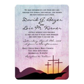 three crosses wedding invitation