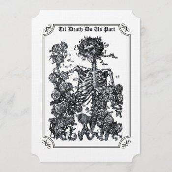 til death do us part skeleton wedding invitation