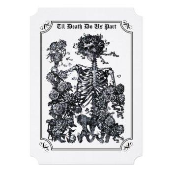 til death do us part skeleton wedding invitation