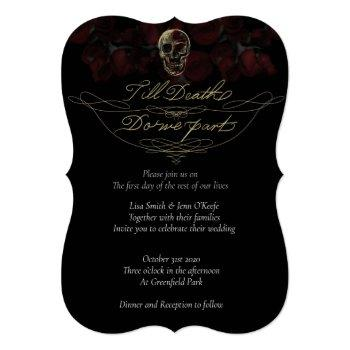 till death wedding invitations