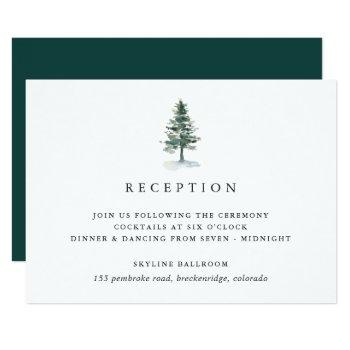 timber grove reception enclosure card
