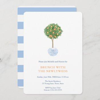 topiary tree newlyweds morning after brunch party invitation