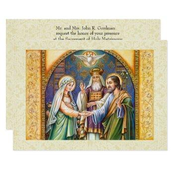 traditional catholic christian wedding invitation