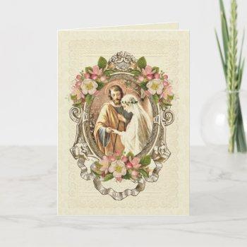 traditional catholic elegant vintage wedding invitation