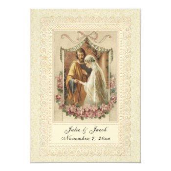 traditional catholic wedding elegant invitation