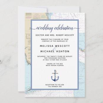 traditional nautical event / wedding   florida invitation