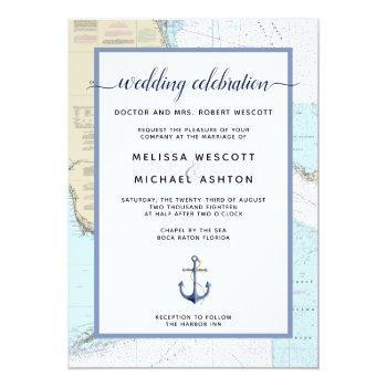 traditional #nautical event / wedding   #florida invitation