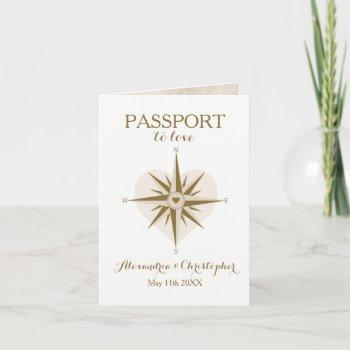 travel theme folded passport invitation
