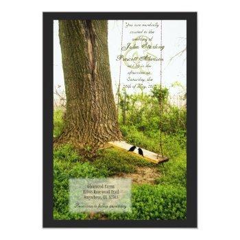 tree n swing country wedding invitations w birds
