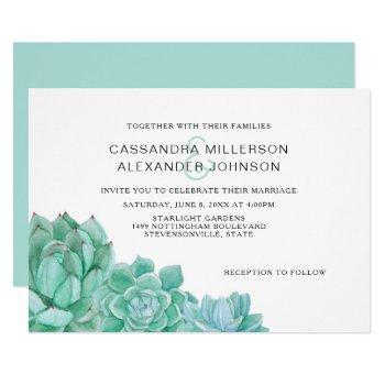 trendy succulent wedding invitation suite 3961