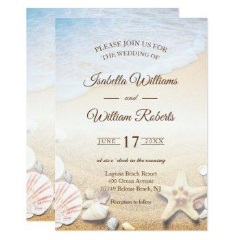 tropical beach starfish wedding party invitation