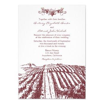 tuscan wine winery vineyard wedding invitations