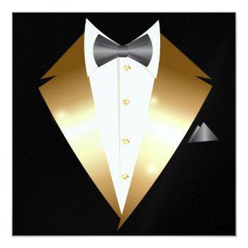 tuxedo black tie event invitation